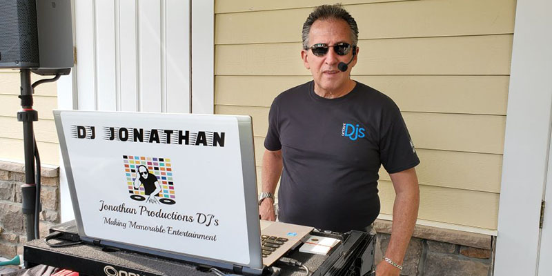 DJ Jonathan at a children's party