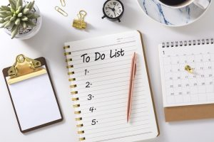 plan ahead with lists to be sure your party goes as planned
